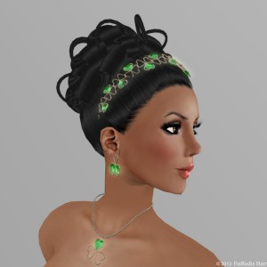 FaiRodis Miss Universe multicolor hair with Shamrock diadem