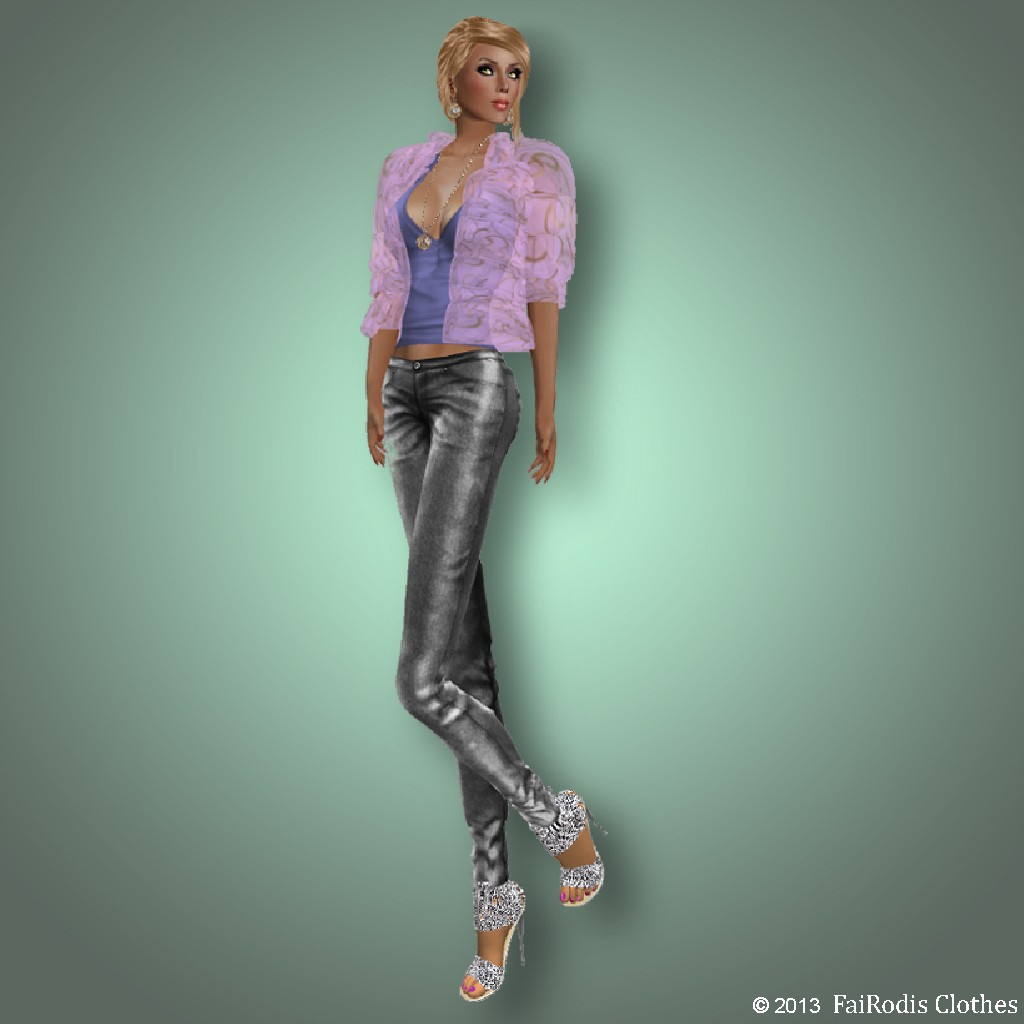 FaiRodis Spring outfit with mesh jeans