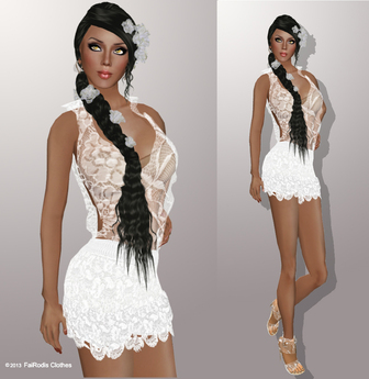 FaiRodis Good Mood #11 mesh white lace outfit