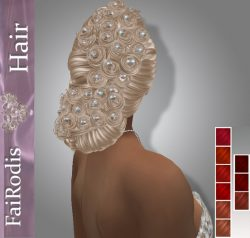 FaiRodis Adollina hair deep reds +pearl decoration pack