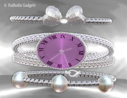FaiRodis Pearl Dreams smart-watch with bracelets