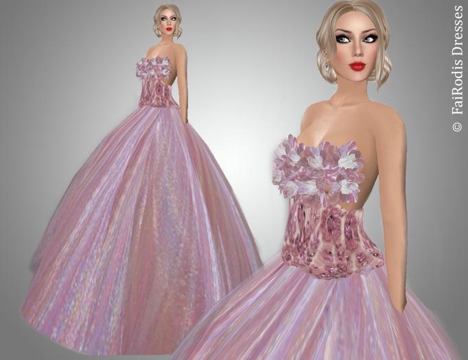 Pink flower wind
