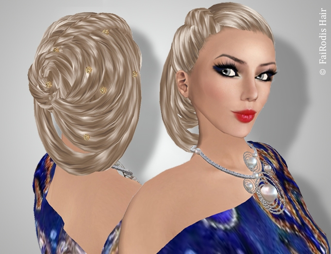 FaiRodis Muriel hair light blonde2+decoration pack