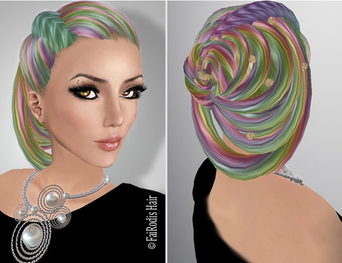 FaiRodis Muriel hair rainbow+decoration pack