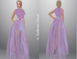 FaiRodis N4 dress sweet lilac+jewelry+stiletto pack