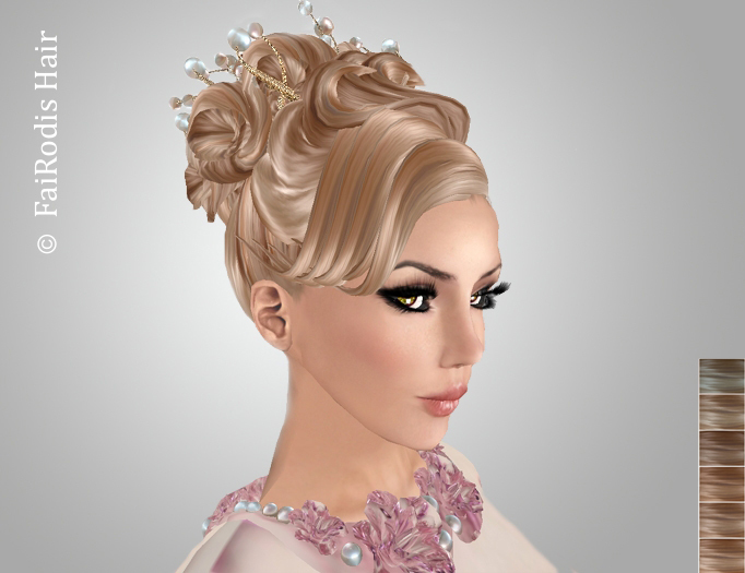 FaiRodis Queen of flowers bronde-blonde2+ pearl decoration