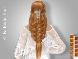 FaiRodis Julia hair light orange+diamond decoration pack
