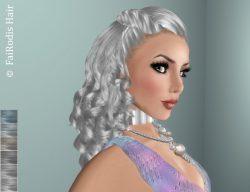 FaiRodis Silvia hair silver colors+decoration pack