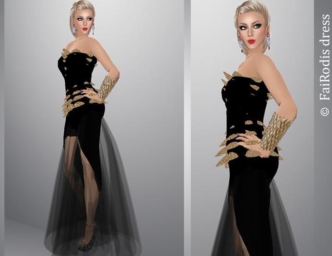 FaiRodis Queen of dragons dress+stilletos as GIFTpack