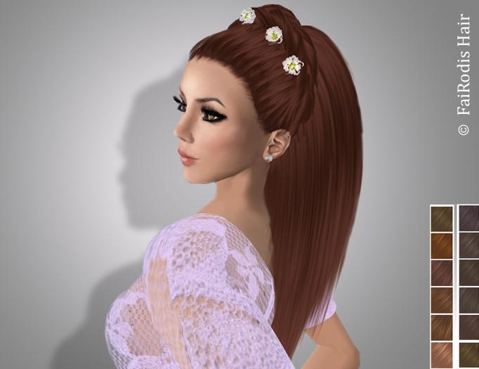 FaiRodis Freya hair light shaten +decoration pack