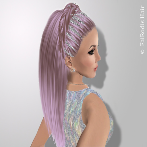 FaiRodis Freya hairstyle decoration with amazing holographic effect + FLOWER decor pack