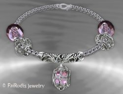 "FaiRodis ""Wind of passion"" aromatic bracelet pink ruby"