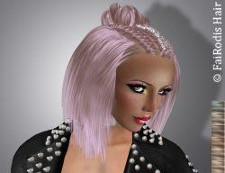 FaiRodis Ingrid hair light blonde2 with hair decoration pack