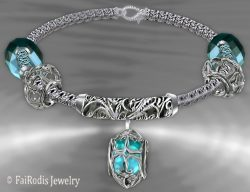 FaiRodis Wind of passion parfume bracelet blue diamond pack