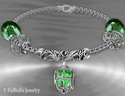 FaiRodis Wind of passion bracelet emerald