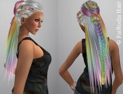 FaiRodis Delis hair rainbow flexi braid pack