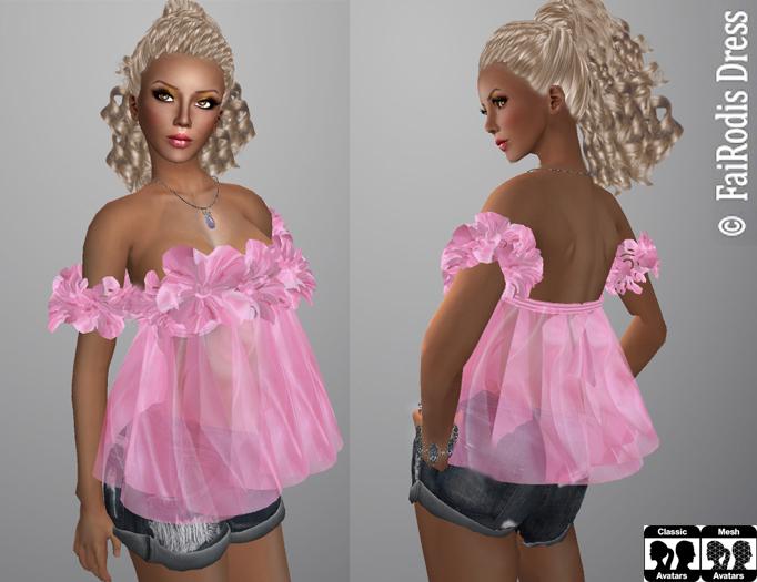 FaiRodis Elen blouse for all avatars pack pink pack