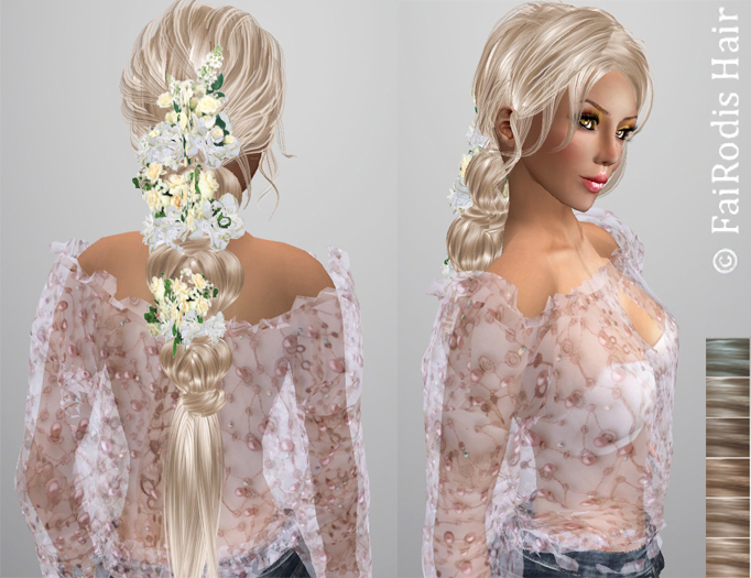 FaiRodis Summer hair light blonde2 with hair decoration pack