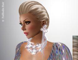 FaiRodis Erin hair light blonde2+ flexi earrings