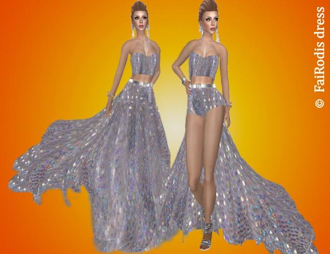 FaiRodis Silver nightfall dress-gown pack