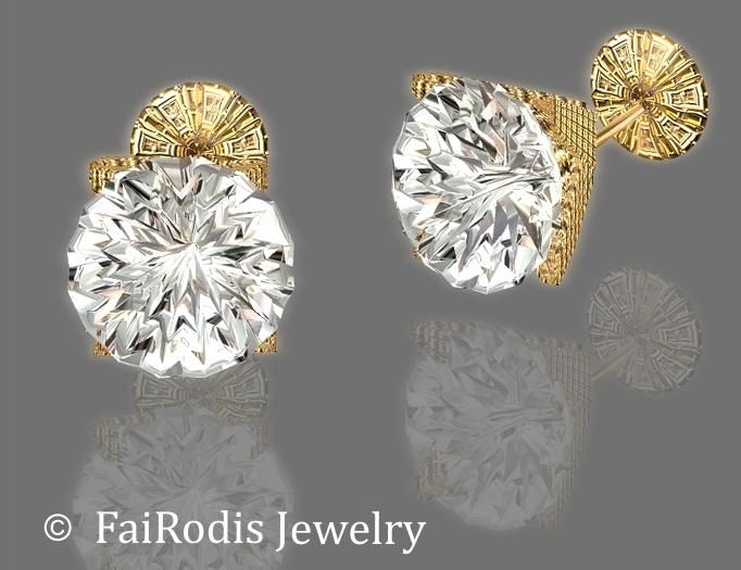 FaiRodis LED earrings white-gold v1 GROUP GIFT