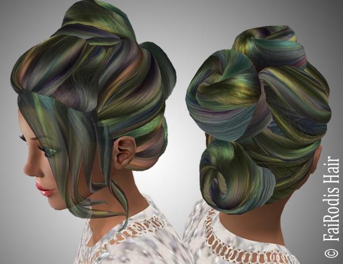FaiRodis Sandra hair updo night aurora pack