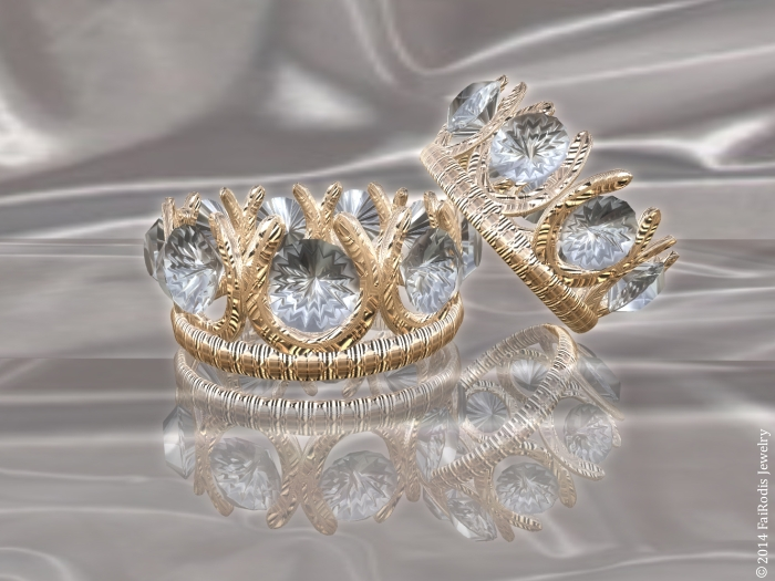 Crown wedding rings
