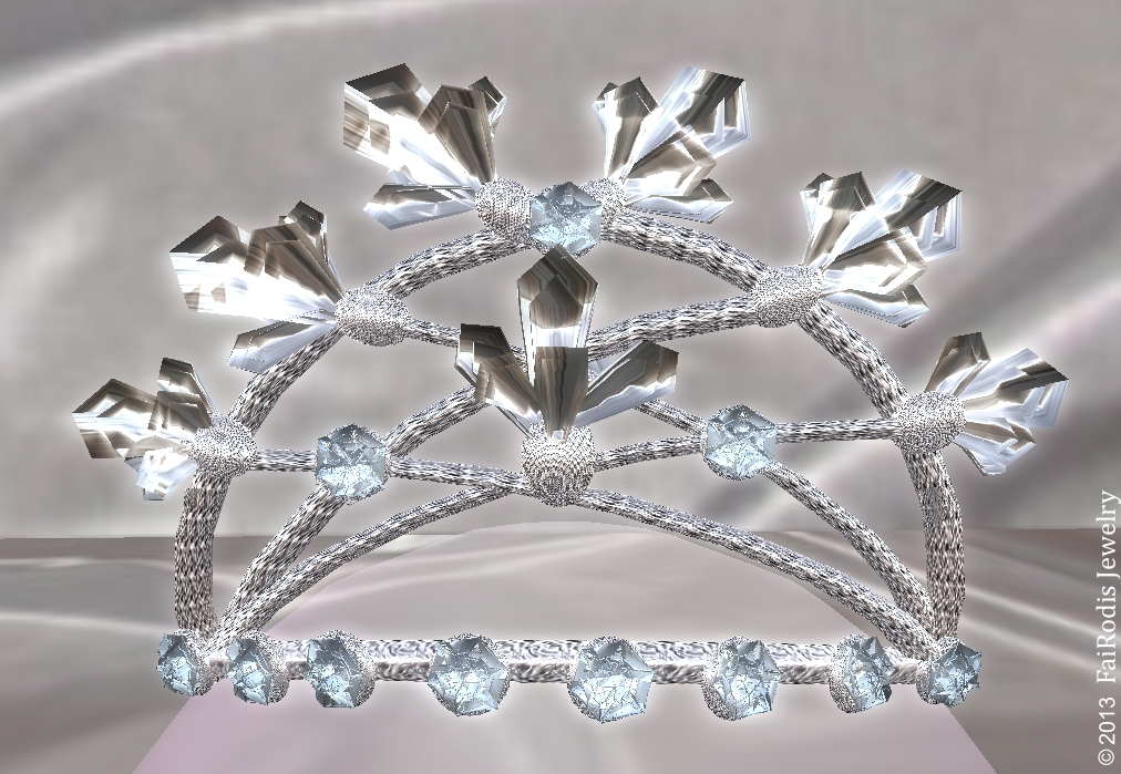 FaiRodis Crystal Flowers Tiara
