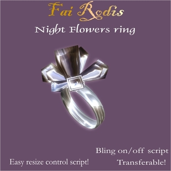 FaiRodis Night Flower ring (Click on picture to buy on SL MarketPlace)