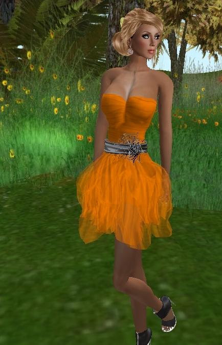 FaiRodis Queen of Pumpkin dress2 (Click on picture to buy on SL MarketPlace)