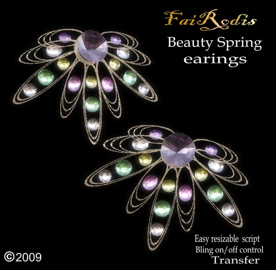 FaiRodis Beauty Spring earings (Click on picture to buy on SL MarketPlace)