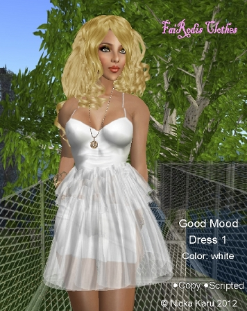 FaiRodis Good Mood dress white (Click on picture to buy on SL MarketPlace)