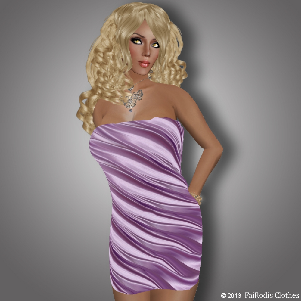FaiRodis Good Moood8 Valentine Violet Dress (Click on picture to buy on SL MarketPlace)