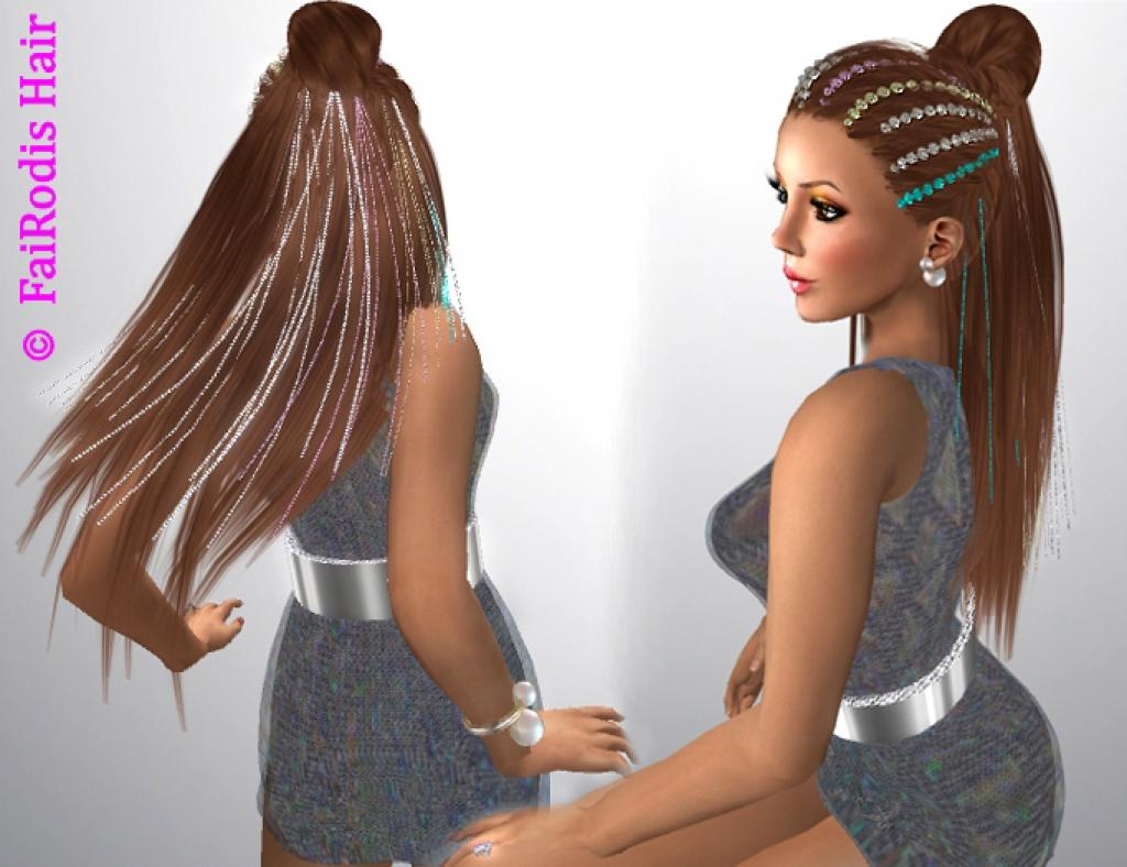 FaiRodis Merilyn hair with flairs decoration pack