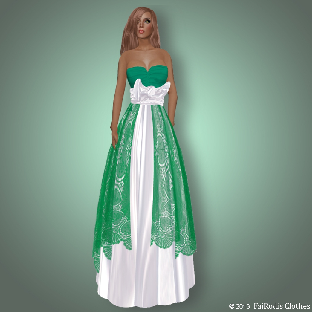 FaiRodis Shamrok green-white lace dress