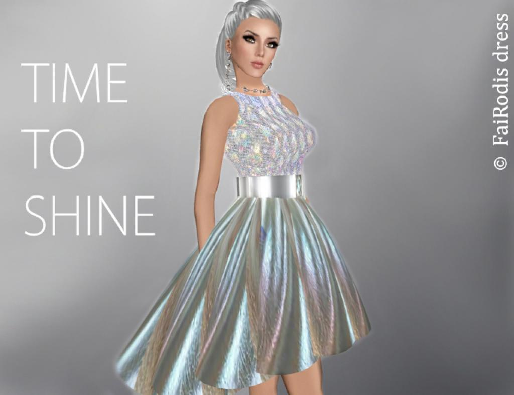 FaiRodis holografic mesh dress Shining galaxy5