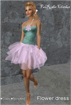 Flower dress (Click on picture to buy on SL MarketPlace)