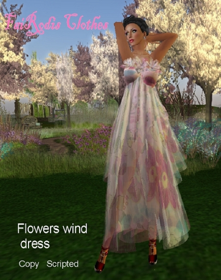 FaiRodis Flower wind dress (Click on picture to buy on SL MarketPlace)