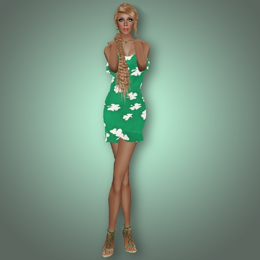 FaiRodis Shamrock 1 mesh dress