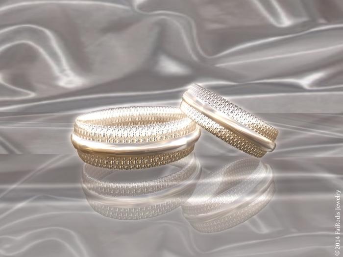 Happy wedding rings