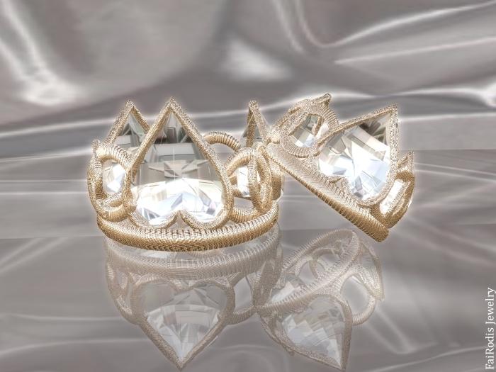 Heart Lotos wedding rings