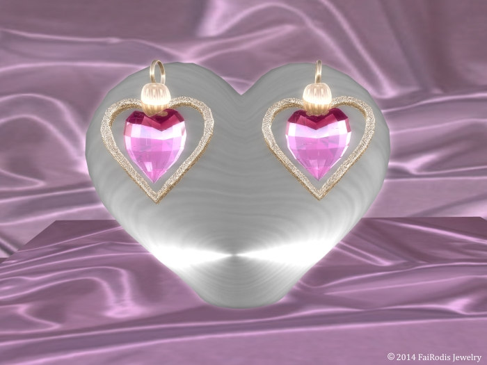 Love wind Earrings Pink