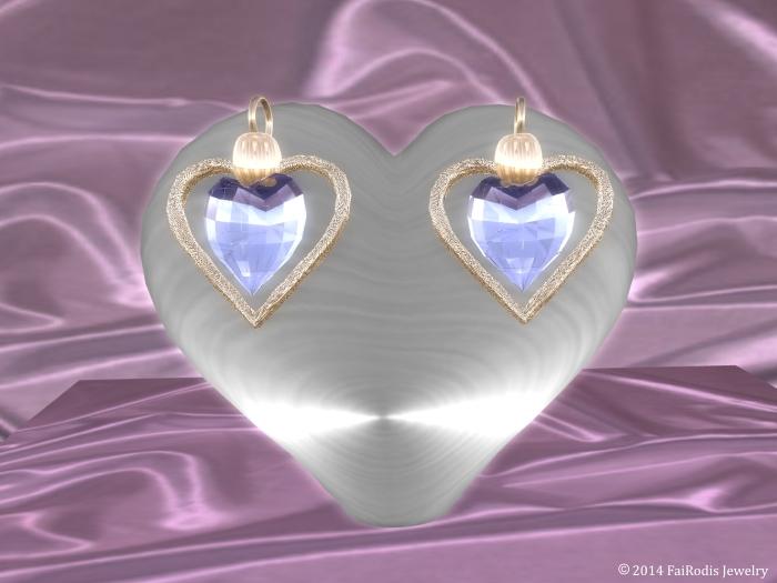 Love wind Earrings Saphire