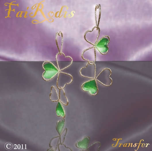 Patrick's Shamrock earings (Click on picture to buy on SL MarketPlace)
