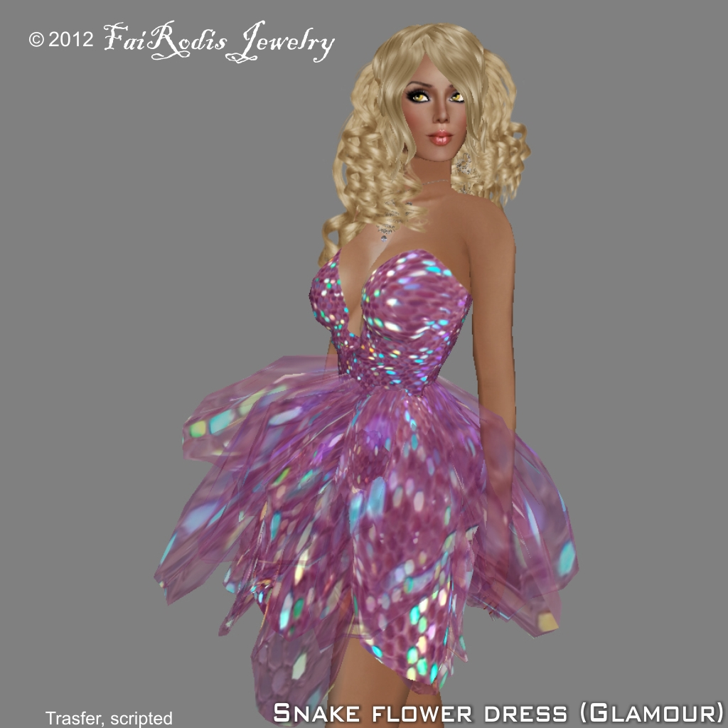 FaiRodis Snake Flower Dress Glamour (Click on picture to buy on SL MarketPlace)