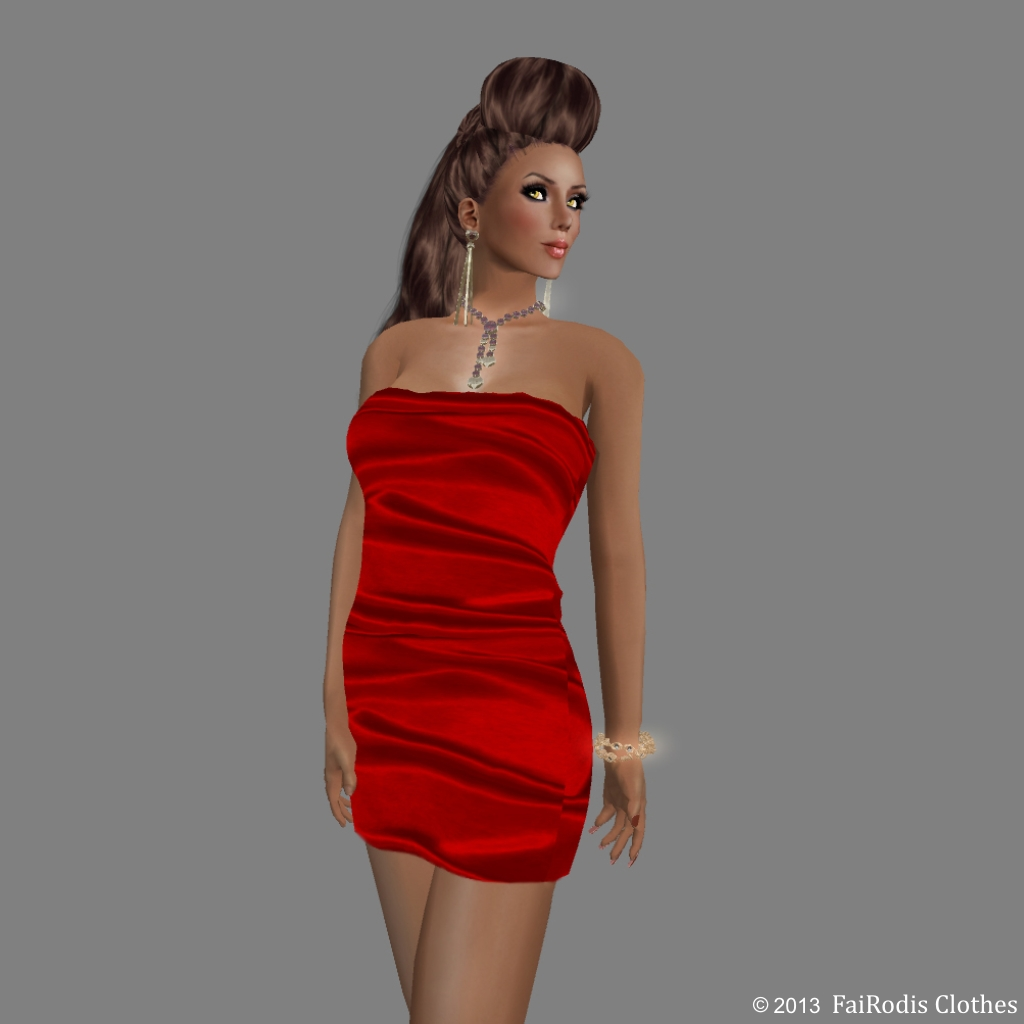 FaiRodis Good Mood 8 Valentine red mesh dress (Click on picture to buy on SL MarketPlace)
