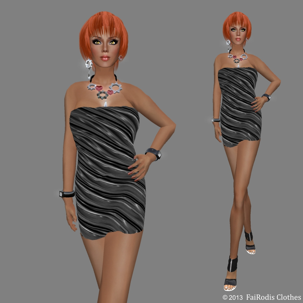 FaiRodis Good Mood 8 Valentine black mesh dress (Click on picture to buy on SL MarketPlace)