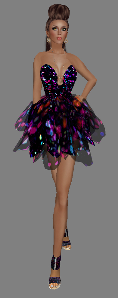 FaiRodis Snake Flower Dress Fireworks magic (Click on picture to buy on SL MarketPlace)