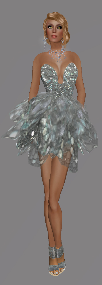 FaiRodis Snake Flower Dress Silver (Click on picture to buy on SL MarketPlace)